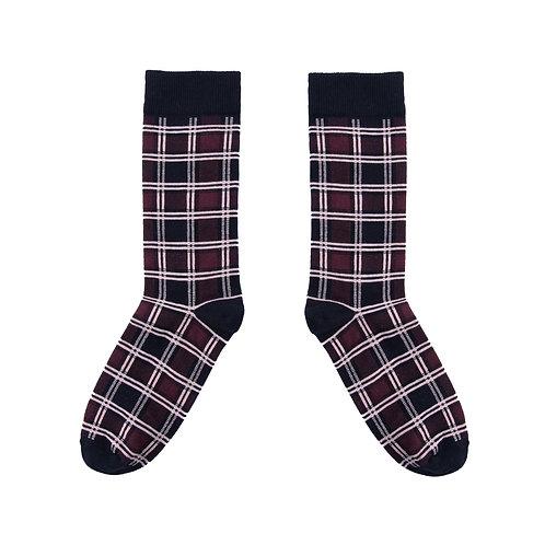 Tartan Red Socks - UK 3.5-7