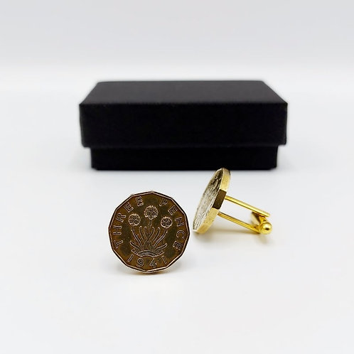 1941 Upcycled Vintage Coin Cufflinks