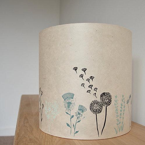 20cm x 20cm Medium Lokta Lampshades - Into the Garden