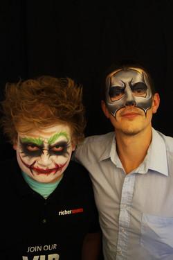 Batman and Joker Face Paint