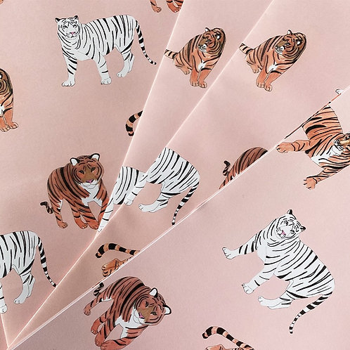 Tiger Party Wrapping Paper