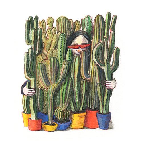 Cactus Woman print