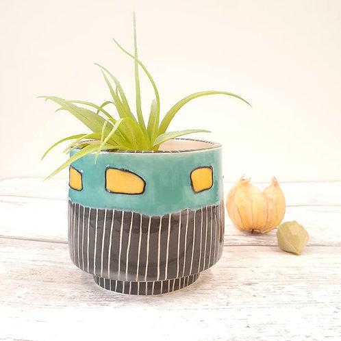 Floating Squares Ceramic Planter