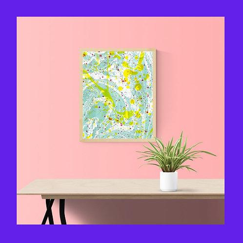 Splatter print in brown frame