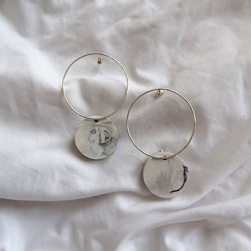 Roval Earring Large Marble