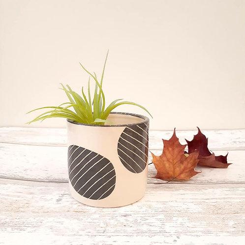 Patches & Pinstripes Ceramic Planter
