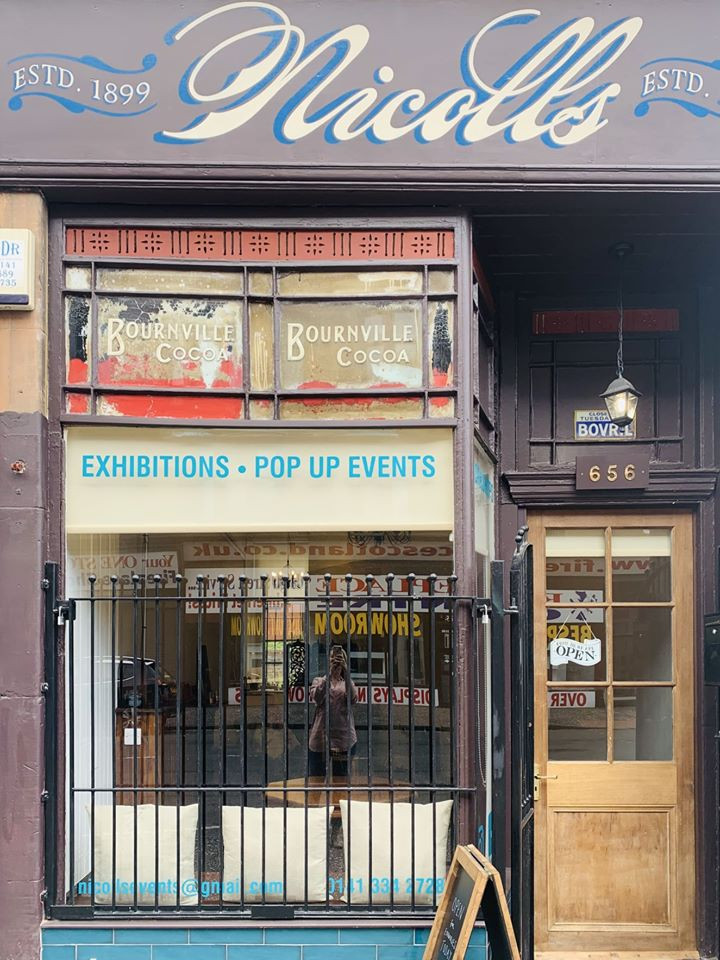 Pop up shop Glasgow Nicolls Gallery and Events Space is a beautifully converted shop. Made up of a flexible gallery and events space located in the Partick area. The space is ideal for exhibitions, workshops, classes but can also be used as a pop up shop. Located just a 5-minute walk from Partick train and subway station and can be rented for just one day - it is the ideal space to give independent businesses a place to host their creativity.