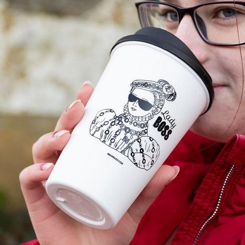 Reusable Mugs - Lady Boss design