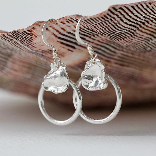 Petal Circle Earrings