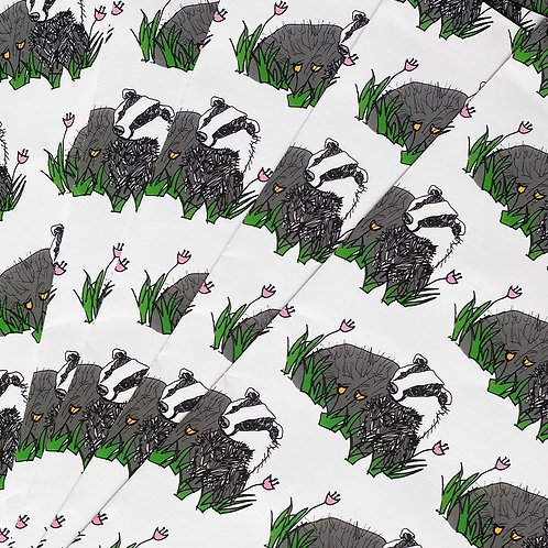 Badger Wrapping Paper