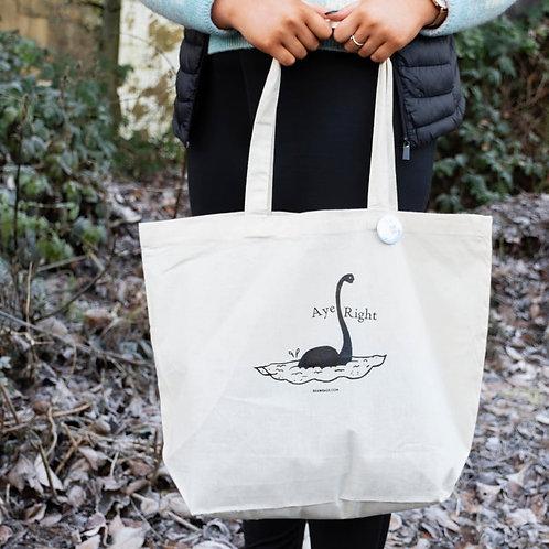 Signature Tote Bag - Skeptical Nessie design