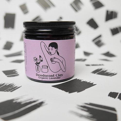 Organic Lavender Deodorant Clay