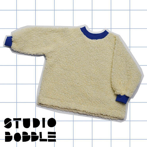 Cream Teddy Sweatshirt Lined