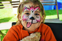 Pink Dog Face Paint