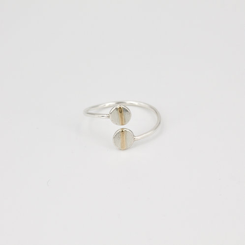 Silver and Gold Adjustable Ring