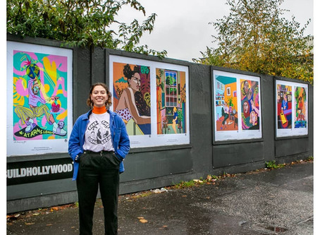 Molly Hankinson Champions Womxn and all things Glasgow in  her vibrant street exhibition