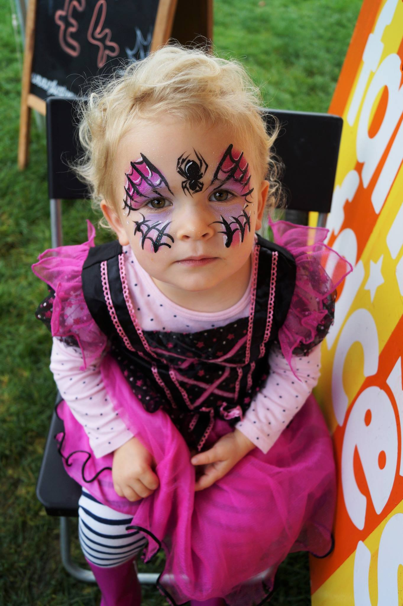 Spider Princess Face Paint