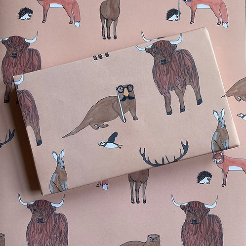 Scottish Wildlife Wrapping Paper