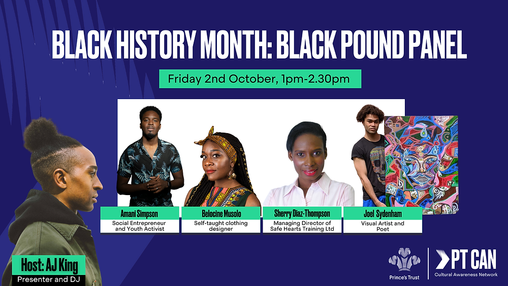 Belcoine of Nephtali Couture invited to discuss importance of Black Pound Day by Princes Trust