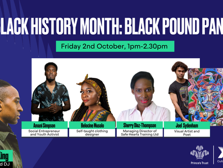 Belocine of Nephtali Couture invited to discuss importance of Black Pound Day by Princes Trust