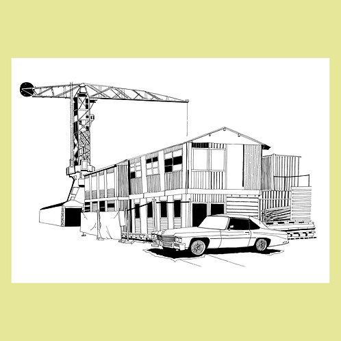 Crane and Car, NDSM Warf, Amsterdam
