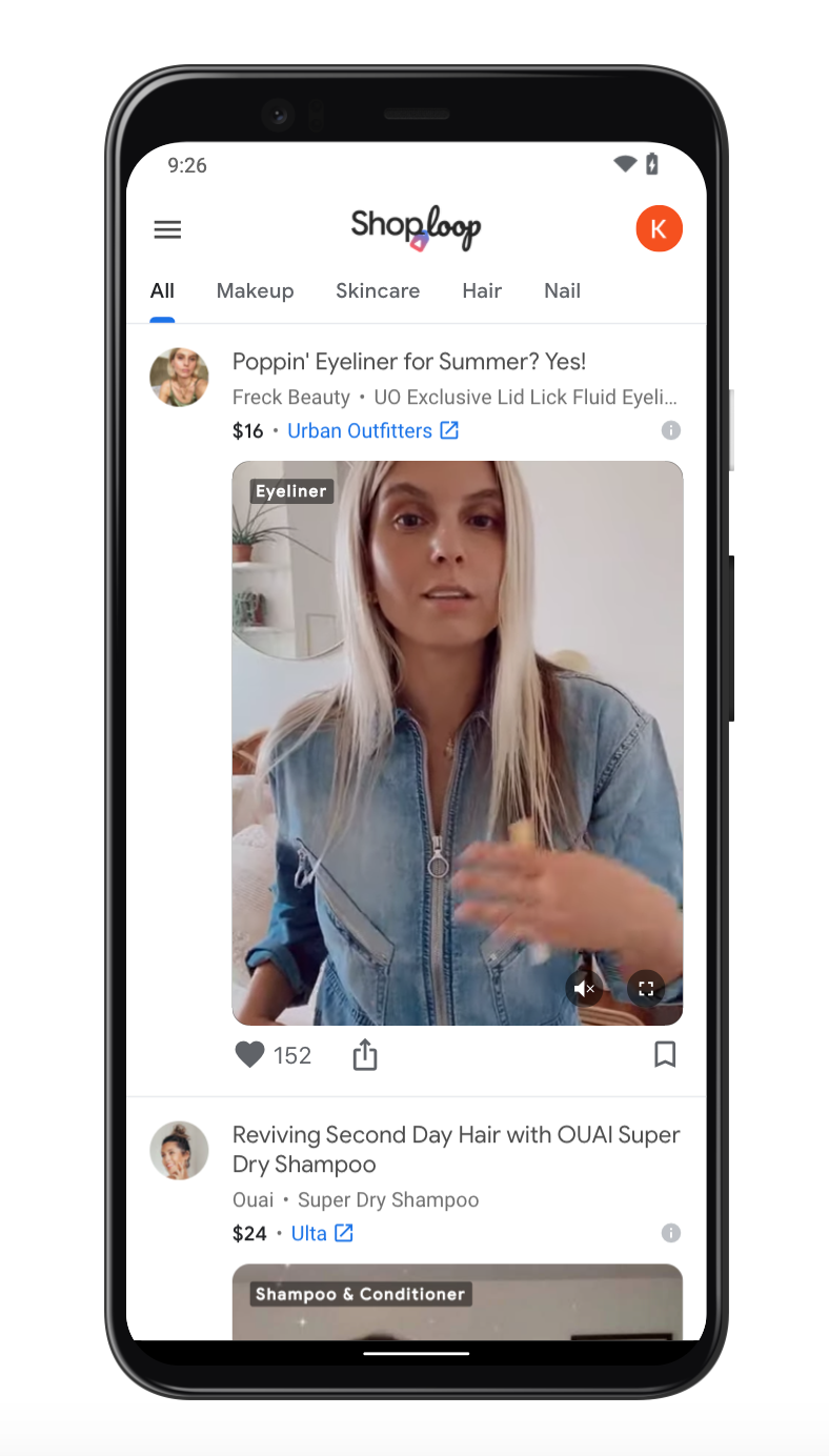 Google has launched a video shopping platform Shoploop, designed to streamline consumers' shopping experience. Shoploop is currently focused on hair, beauty and make-up products that have been reviewed by real people.