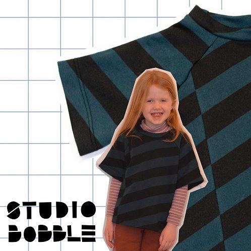 Blue&Black Candy Stripe T-Shirt