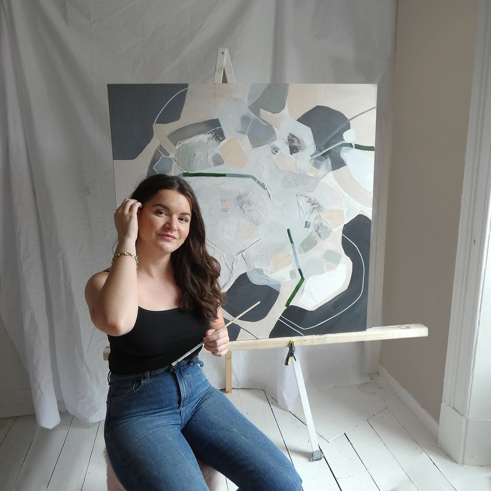 Christina Studio Glasgow based Interior designer and stylist, painting things.   Bespoke art for interiors. Each piece is designed around the client, budget and interior it is made for.