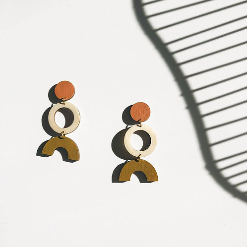 Leona Geometric Statement Earrings (Customisable)