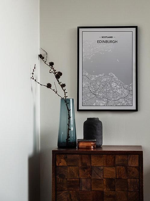 EDINBURGH City Map Poster A3