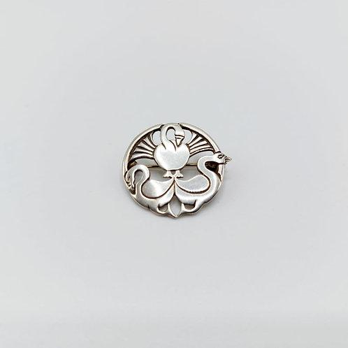 Vintage Scottish Shetland Silver Brooch