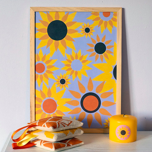 Sunflower Medley A4 Recycled Art Print
