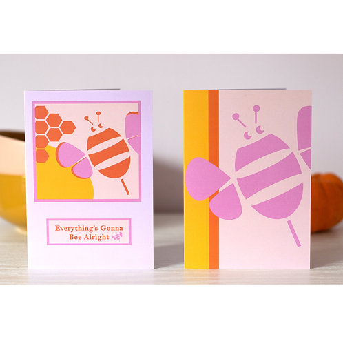 Happy Hive Greetings Cards Set of Two- Recyled A6