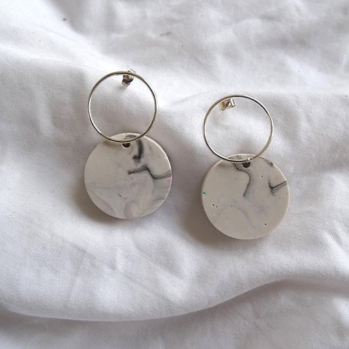 Roval Earring Small Marble