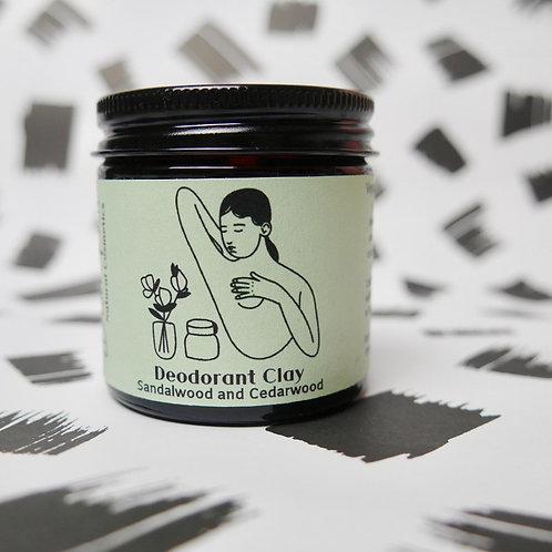 Sandalwood & Cedarwood Deodorant Clay