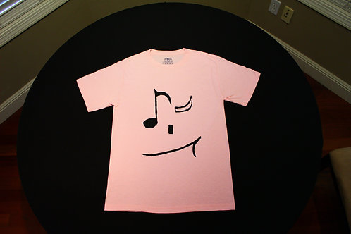 Adult Size Small-50/50 blend-Tagless T-Shirt-8th note 'wink'