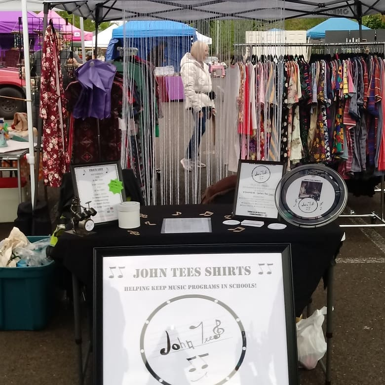 my booth at summer event for john tees