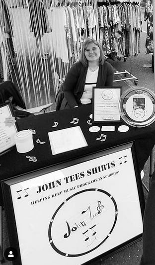 Me in front of john tees booth