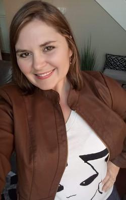 Katrina Shaw-leather jacket-looking up-J