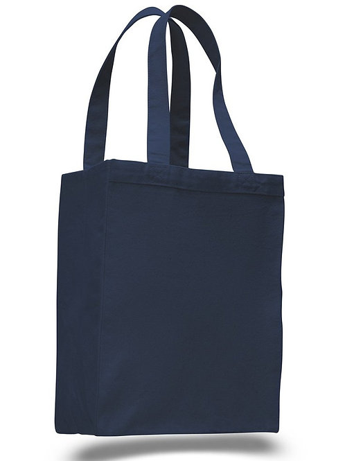 Navy: Heavy Canvas Shopping Bag Tote
