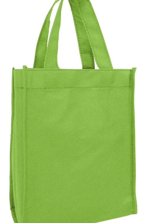 Lime Green: Small Non-Woven Tote Gift/Book Bag