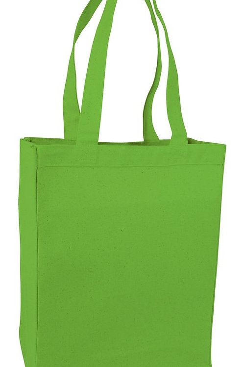 Lime Green: Heavy Canvas Shopping Bag Tote