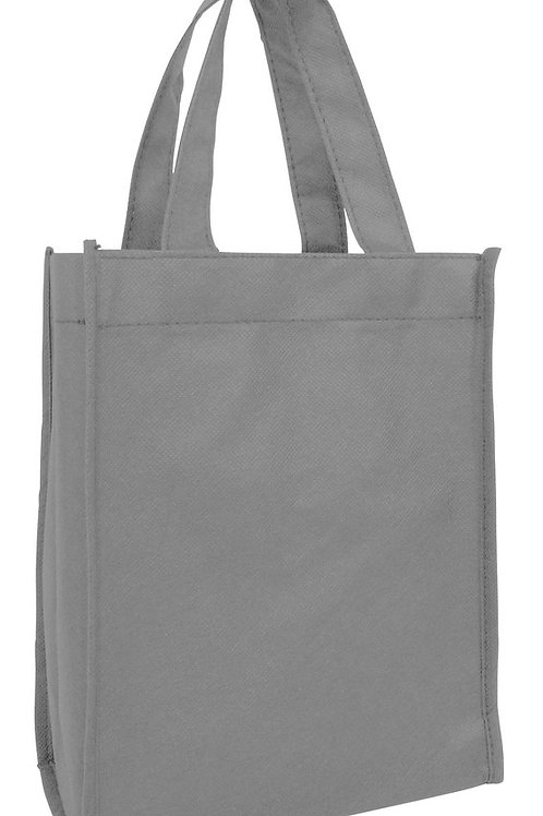 Gray: Small Non-Woven Tote Gift/Book Bag