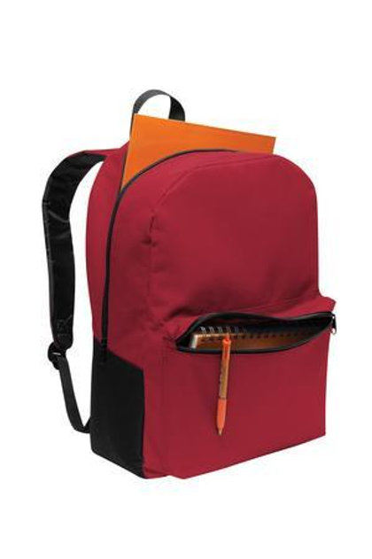 Red: Retro Shape Backpack