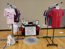 simple booth display from Rosedale Elem.