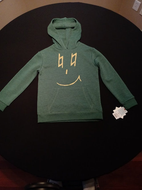 Youth Size Small-(6/7)-Cat & Jack brand hoodie, gold natural eyes