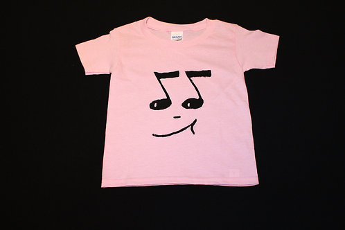 Toddler Size 3T- black 8th Notes-100% Cotton Tagless