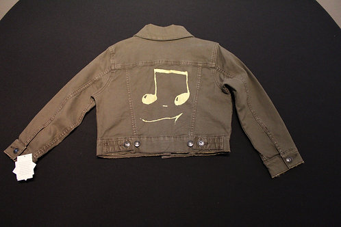 Toddler Size XS 4/5T-Cat & Jack brand, jean jacket, gold 16th Notes on back