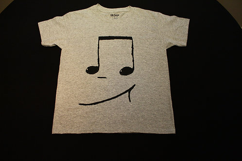 Youth-Size Small-100% Cotton Tagless-black 16th notes