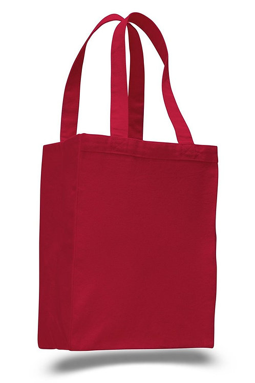 Red: Heavy Canvas Shopping Bag Tote
